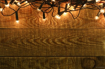 Christmas Garland on wooden wall backdrops