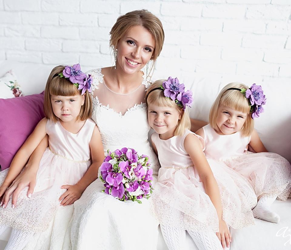 Людмила с дочерьми Антона