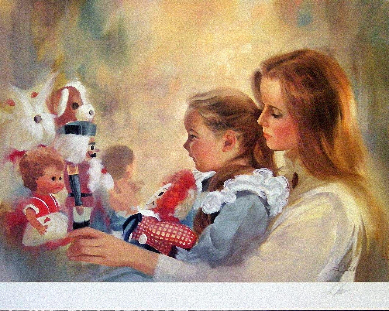 Мама с ребенком рисунки