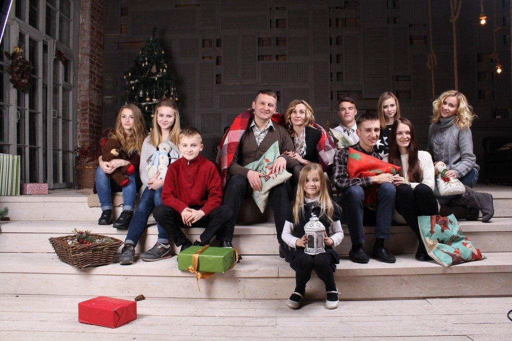 Рождество 2016 год. Вся семья.