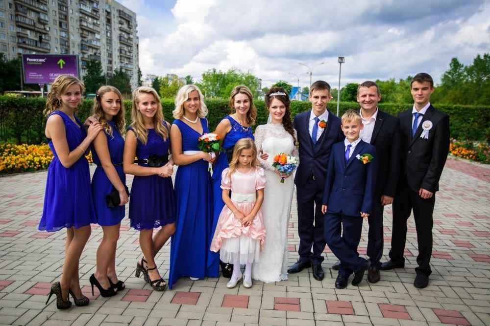 семья Козицких на свадьбе старшего сына Дмитрия и Оксаны